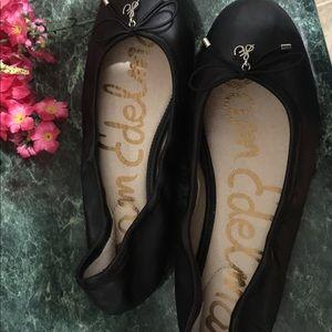 SAM EDELMAN BLACK BALLET FLATS 6 1/2 worn twice